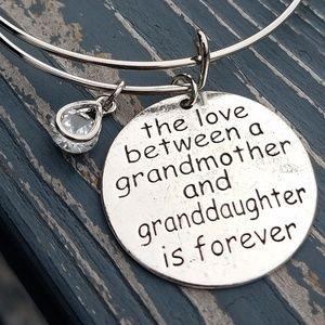 Jewelry - Grandmother bracelet, charm bracelet, bangle